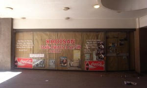 The closed-down Khoisan take-away
