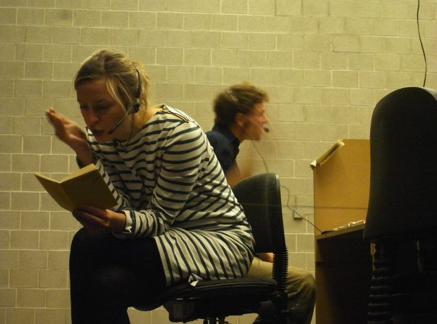 Nora working in the call center