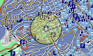 The O2 Map of my Homezone in Stuttgart